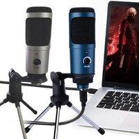 마이크 PS4 금속 USB 콘덴서 녹음 마이크 게임 Windows 노트북 스튜디오 보컬 음성 스카이프 채팅 Podcast
