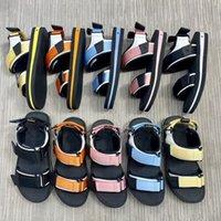 Роскошный дизайнерские пляжные мужчины и женщины аркада плоские платформы сандалии натуральные кожаные повседневные скольжения обувь квартиры классический пешеходный размер 35-45