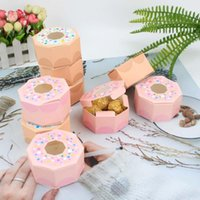 Gift Wrap 10Pcs Baby Shower Donuts Paper Candy Chocolate Box Sweet Bags Donut Theme Party Wedding Birthday Decoration Favors