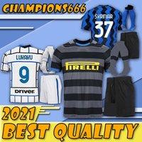 LASTE !! 20-21 Eriksen Lukaku Lauteraro Inter Home Away Milan Soccer Jerseys Barella 20 21 Football Top Shirt Kits Sets mit Socken Uniform