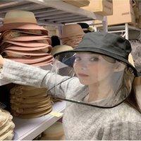 chapeau de chapeau femelle printemps et d'été protecteur anti-salive gouttelettes pleine facture masque masculine cruche cruche