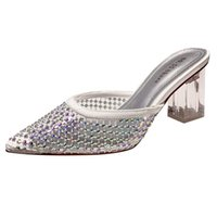 2022 Transparent PVC Sandals Women Pointed Clear Crystal Cup High Heel Stilettos Sexy Pumps Summer Shoes Peep Toe Size 40