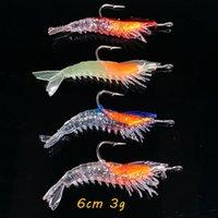 10pcs lot Shrimp Hook Fishing Hooks 4 Color Mixed 6cm 3g Soft Baits & Lures Artificial Bait Pesca Tackle Accessories Kl_40