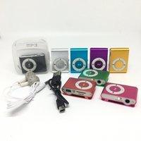 أزياء مصغرة كليب مشغل موسيقى MP3 مشغل USB مع فتحة بطاقة SD أسود الفضة مختلط الألوان PK MP3 MP4 لاعبين