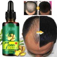 7 dias de crescimento de cabelo rápido essência óleo gengibre cabelo crescimento soro nutritivo tratamento amolecedor reparação de perda de cabelo danificado 10 / 30ml