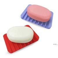Yaratıcı tarak şeklinde duş sabunluk ücretsiz perforasyon boşaltma sabunluk çevre dostu silikon sabunluk 18 renkler owf5731