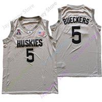 2021 New NCAA College Connecticut Ucnn Huskies Jersey 5 Paige Bueckers 그레이 사이즈 S-3XL