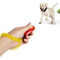 Кнопка для собак Кэксера Pet Sound Trainer с Руководством по помощи на запястье Группа Ударения Pet Click Tearch Tool Собаки Поставки 11 Цветов 100 шт. XH16 309 R2