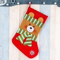 Natale decorazione calze rifornimenti regalo bag ciondolo ciondolo camino ornamenti grandi sacchetti di stoccaggio di caramelle Xmax regali per bambini DWWE8258