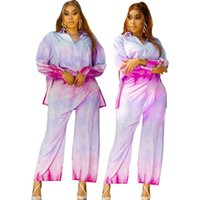 Ethnic Clothing Plus Size Two Piece Set Women Tracksuit Fall Clothes African Dresses For 2021 Party Irregular Tops Pants Suits Outfits5XL