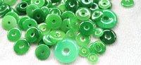20 stücke Emeral Green Jade Pi Jadeit Natürliche Anhänger Roundele o Donut Kreis Schmuck Fokussperlen 8-45mm