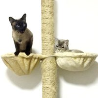고양이 침대 가구 소프트 그물 침대 나무에 설치하는 나무 잠자는 사육장에 매달려 두꺼운 봉제 6cors 큰 침대 애완 동물 직경 30cm 용량