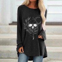 Cadılar bayramı Bayan Moda Artı Boyutu Bayanlar Uzun Kollu T-Shirt Bayanlar Rahat Gevşek Parti Tatil Gösterisi Uzun Kollu