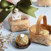 Подарочная обертка ленты бамбуковая корзина годовщина украшения DIY свадебные подарки для гостей упаковки навидад воздушные шары день рождения Box.8z