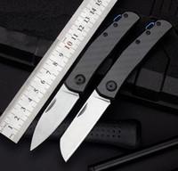 ZT0235 Zero tolleranza ZT0230 D2 Blade Fibra di carbonio Pieghevole Pieghevole Pieghevole Coltello da campeggio Xmas Getti regalo Coltelli A3090