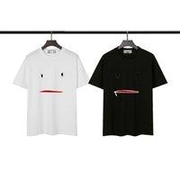 21SS T-shirt da uomo da uomo Summer Manica Corta Fashion Stampato Tops Casual Outdoor Mens Hip-Hop Tees Crew Neck Vestiti S-2XL
