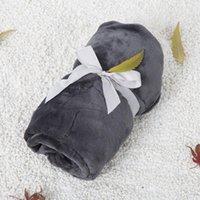 Decken Swaddling Geschenk Kleine Decke Solide Farbe Flanell Einzelne Büro NAP Klimaanlage Baby Kinderwagen Studienraum Knie Pet Matte