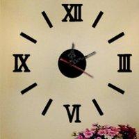 Wall Clocks 3D Big Acrylic Mirror Clock Diy Quartz Watch Still Life Modern Home Decoration Living Room