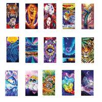 26 Patrones Anime Dibujos animados Impreso Playa Toalla de playa Colorido Eagle Owl Lion Tiger Cat Rose Donut Dolphin Love Eyes Design 160 * 80cm para Ocean Ocean Natación Sentado