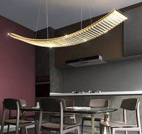 Strip restaurant chandelier light  crystal table lamp postmodern simple LED creative art lamp