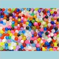 1000 قطع القطط المختلطة العين الاكريليك فاصل الخرز صالح سوار مجوهرات 8 ملليمتر bn2a6 1tfuf
