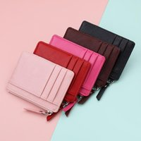 Card Holders 1PC Small Wallet Credit Multi-Card Package Fashion PU Function Zipper Ultra-Thin Organizer Case Student Women Coin Purse