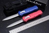 벤치 메이드 3300BK 3300 Infidel 자동 전술 접이식 나이프 알루미늄 핸들 야외 캠핑 사냥 생존 포켓 유틸리티 EDC 도구 구조 자체 방어