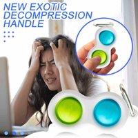 favors Push Bubble simple dimple Key Ring Fidget Pop Toys Keychain Kids Adult Novel Squeeze Bubbles Puzzle Finger Fun Game Fidget