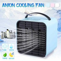 Electric Fans Mini Air Cooler Fan Conditioner Humidifier Purifier Negative Ion Cooling USB Portable Desk Table Drop