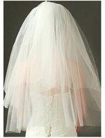 Bridal Veils 2 Layers Short Wedding Veil Comb Cut Edge Velos De Novia 2021 Accessory With Blanc Voile Mariage