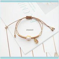 Bracelets Jewelry Handmade Colorf Rope Lucky Cat Bracelet For Women Girls Birthday Gifts Charm Tassel Fashion Maneki Neko Couple Bangles C3