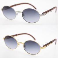 Verkaufen limitierte edition 18k gold holz übergroße runde sonnenbrille dekor holzrahmen hochwertig c dekoration uv400 linse sonnenbrille männlich und weiblich größe: 55-20-135mm