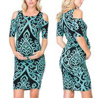 Maternity Dresses Telotuny Dress Fashion Women's Print Straps Casual Sundress Pregnancy Women Clothes 2021