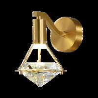High-end Luxury Copper Wall Light With LED K9 Diamond Crystal Lampshade Bright 5W Sconces Wall Lamps for TV Background Bedside Decor