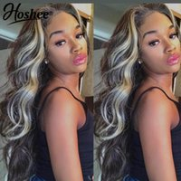 Lace Wigs Wig Natural Hair Body Wave Front Colored Human For Women HD Frontal Ombre