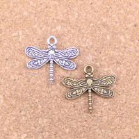75pcs Antique Silver Bronze Plaqué Dragonfly Charms Pendentif Collier DIY Bracelet Bracelet Constatations 21 * 19mm
