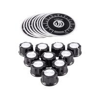 Smart Home Control 20pcs Botón de rotación ajustable Perillas Potenciómetro 0-100 Hoja de escala, Negro