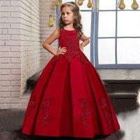 PLBBFZ RES FLUME Perlen Christmas Long Kleid Mädchen Kinder Prinzessin Leistung Geburtstag Abend Party Kleid Vestidos Q0716