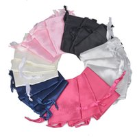 50pcs lot 7x9cm Small Satin Silk Drawstring Pouches Jewelry Makeup Packaging Christmas Wedding Party Gift Decoration Bags