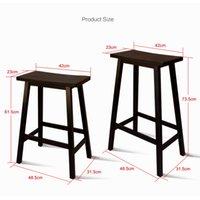 Waco Küchenzählerhocker, klassische Massivholz-Sattel-Sitz-Barhocker mit Fußplatte 24 Zoll, - Kiefer (2er-Set)