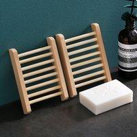 Soporte de jabón de madera Platos de jabón de bambú natural de madera.