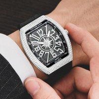 Наручные часы Pintime Хип-хоп Творческие Часы Мужчины Алмазные Военные Мужские Часы Случайные Часы Мужской Relogio Masculino Reloj Hombre