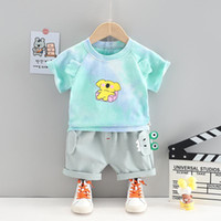 Clothing Sets Summer Born Baby Boy Clothes Outfits Short-sleeved T-shirt Shorts Suits For Boys Infant Casual Sports