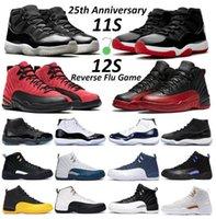Hombre Baloncesto Zapatos Jumpman 11 Jubilee 25 aniversario Bred Concord Dark 11S Juego de gripe inversa 12s Taxi Hombres Mujeres Zapatillas al aire libre Entrenador