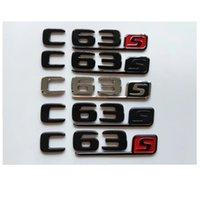 Chrome Black Letters Number Trunk Badges Emblems Emblem Badge Sticker for Mercedes Benz W204 W205 C205 S205 A205 C63s C63 S AMG