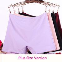2021 115KG Big Size Boyshorts Women Underwear Boxer Female Safety Short Pants Large Size Ladies Cotton Solid Panties Shorts