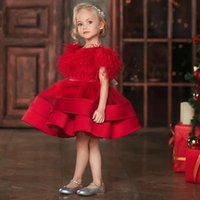 Girl's Dresses Flower Girl For Wedding Handmade Flowers First Communion Princess Gowns Party Christening Dress