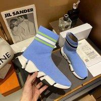 2021 파리 겨울 패션 스타 패션 캐주얼 신발 여성 남성 양말 신발 쌍 비 슬립 솔 35-45 Siez 탑 스니커즈 금속 금속 장식