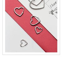 V-379 Серьги сердца 925 Стерлингового серебра Hoop Геометрическое уха Манжета зажима на серьгу для женщин-пирсинга