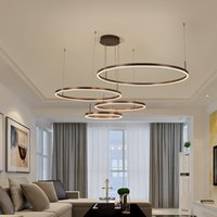 현대 알루미늄 rring LED 단일 라운드 + RGB 결합 광택 Iindoor 샹들리에 펜던트 램프
